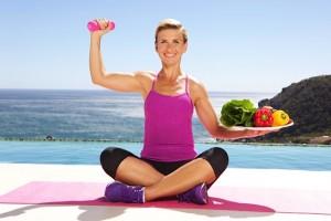 nina winkler vegan gemüse hantel shape workout