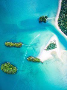 Krabis Inseln von oben